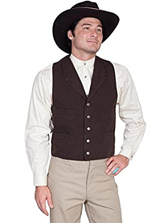 Men's Vintage Inspired Vests Wahmaker Canvas Vest  AT vintagedancer.com