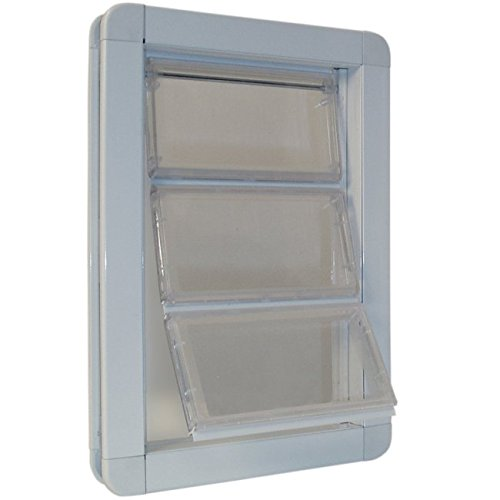 Ideal Pet Products Premium Draft-Stopper Pet Dog Door, Medium, White (Ultraflex Dog Door compare prices)