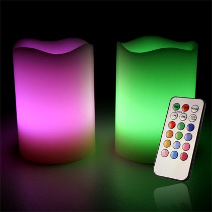 Mooncandles, Colour Changing LED Flameless candles with remote