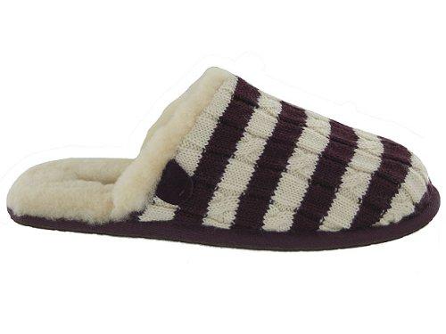 Cheap UGG® Australia Women's Sweater Knit Scuffette Stripe Slippers Fig/Cream (B004U1NF52)