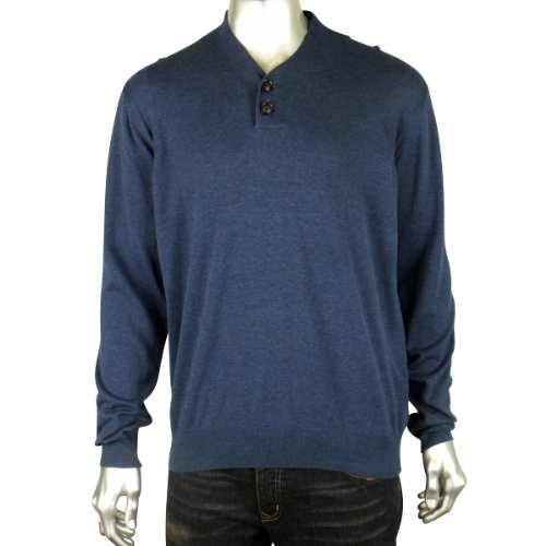 New Mens Ben Sherman Smart Blue Knit Jumper Mod Retro Sweater Size XXL