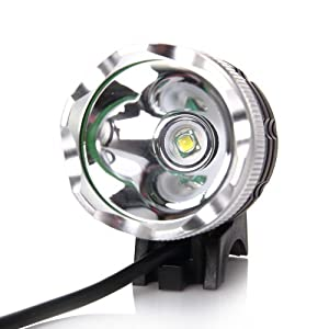 ZeleSouris Eclairage lampe avant Phare pour vélo / VTT / Enduro / - Lampe frontale vélo Attention: 2 heures de luminosité pour la mode forte;4 heures de luminosité pour la mode faible -Attention : C'est vraiment 1200LUMENS