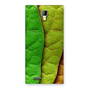 Cool Leaf Pattern Back Case Cover for Micromax Canvas Xpress A99