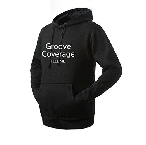 Unikalent Unisex Groove Coverage Logo Hoodie (Black Large) (Hotel Angeline compare prices)