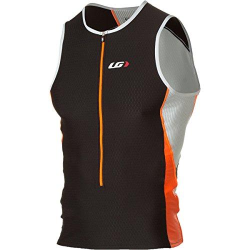 Louis Garneau Pro Men'S Sleeveless Jersey Black/Fluo Orange, S - Men'S
