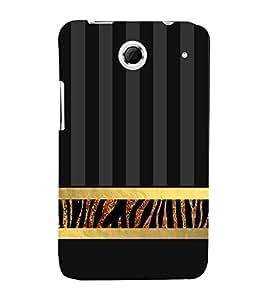 Golden Line Zebra Pattern 3D Hard Polycarbonate Designer Back Case Cover for Lenovo K880