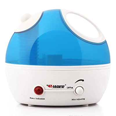 Eware 3K037 Cool Mist Ultrasonic Humidifier with Whisper-quiet Operation, Automatic Shut-off