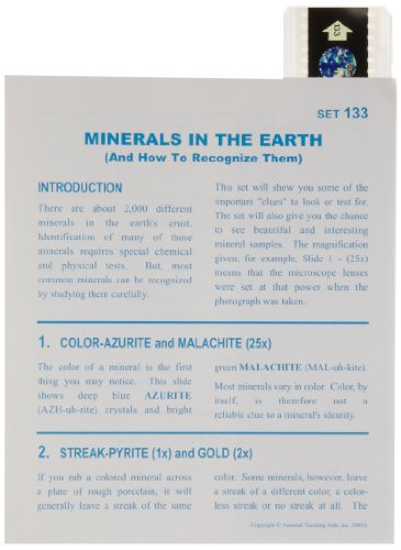 American Educational Microslide Minerals of The Earth Lesson Plan Set