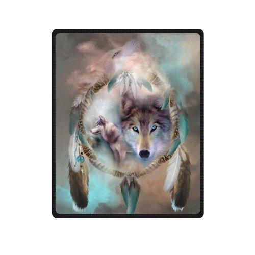 Fleece Wolf Blanket
