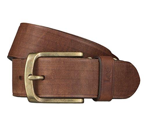 Lee Cintura di uomini Cintura di Pelle marrone 4654, Länge:90 cm;Farbe:braun