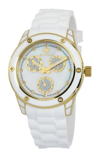 Wellington Geraldine Women's Quartz Watch with Mother of Pearl Dial Analogue Display and White Silicone Strap WN506-286