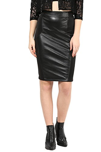 Black Leather Party Skirt-32