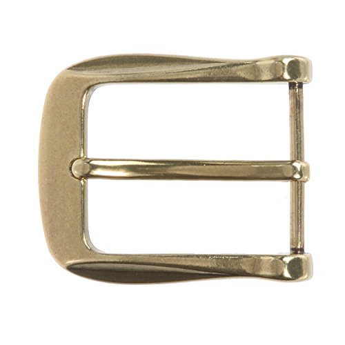 "1 1/2"" (38 mm) Nickel Free Single Prong Rectangular Belt Buckle Color: Brass"
