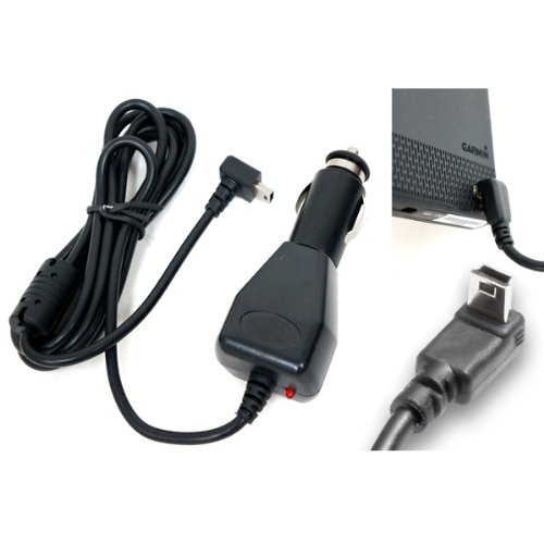 """ChargerCity 12v Garmin Nuvi 2xx 11xx 12xx 14xx 2200 2300 2350 2360 2370 2450 2457 2497 2539 2555 2557 2559 2597 2598 2639 2689 2699 3550 3750 3760 40 42 44 50 52 54 55 56 57 58 65 67 68 GPS Vehicle Power Cable Car Charger Adapter with extended 6FT Straight Cord, custom """"L"""" Shape Connector & magnetic ferrite to prevent Electro-Magnetic shock w/ChargerCity direct replacement warranty (Best Replacement for Garmin 010-11838-00 / 010-10723-06 / 010-10723-14 / 010-10851-11 / 010-11478-03)"""