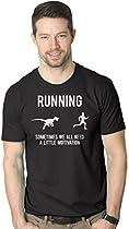 Running Motivation Raptor Shirt Funny Dinosaur Tee to Motivate Runners L