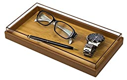 Jack Cube Catch-All Bamboo Tray / Cosmetic Organizer (Brown set of 3pcs) - MK156B3