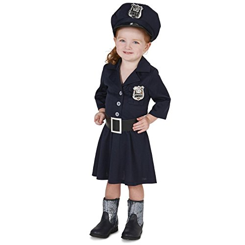 [Police Girl Toddler Costume 2-4T] (Policewoman Costumes)