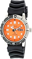 Seiko SRP589 Automatic Orange Dial Black Rubber Band Prospex Mens Diver Watch