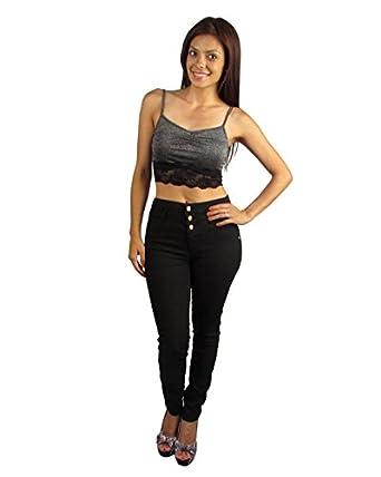 High Waisted Super Skinny Black Jeans