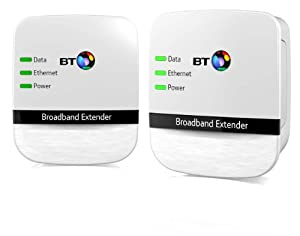 BT Broadband Extender 200 Kit, Powerline Adapters (Twin Pack)