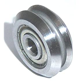 3/8 V Groove Guide Bearings:Shielded RM2ZZ