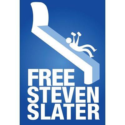 Professionally Framed Free Steven Slater Airplane Slide Art Poster - 13x19 with RichAndFramous Black Wood Frame
