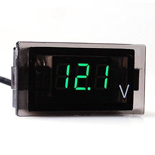 Brand New Car Motorcycle 12V-24V Dc Green Led 3 Digital Display Voltmeter Voltage Panel Meter Smart Universal Fit