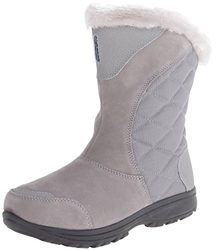 Columbia Women's Ice Maiden II Slip Winter Boot,Light Grey/Siberia,6.5 M US