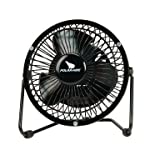 Polar Aire High Velocity Desktop Fan, 1 Speed, Black