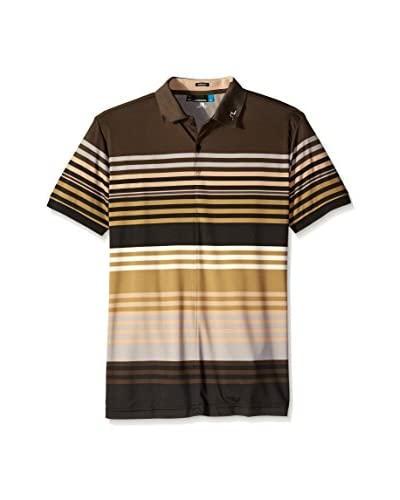 J. Lindeberg Golf Men's Ric Printed Jersey Polo