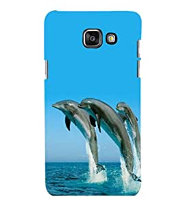 printtech Nature Water Dolphin Back Case Cover for Samsung Galaxy A7 2016 Edition