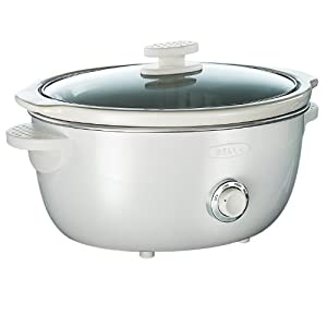 BELLA 13660 Dots Collection Slow Cooker, 6-Quart, White