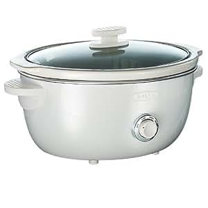 BELLA 13660 Dots Collection Slow Cooker, 6-Quart, White