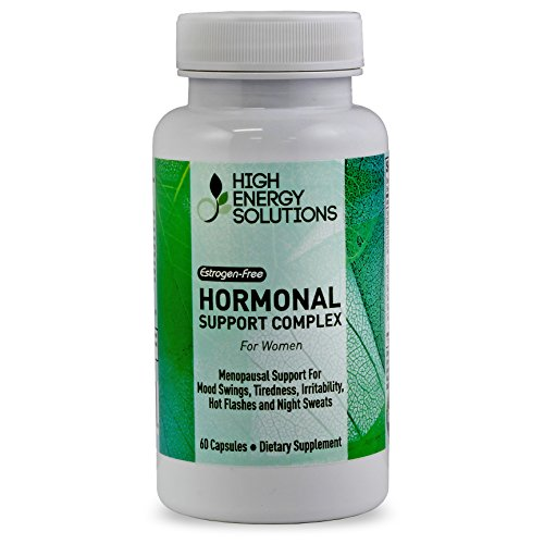 Menopause Supplements Natural Hormonal Support Relief For PMS Hot Flashes Tiredness Night Sweats - Estrogen-Free With Black Cohosh - Dong Quai - Red Clover - Sage And More - 60 Capsules - GMP - USA (Hot Flash Remedy compare prices)