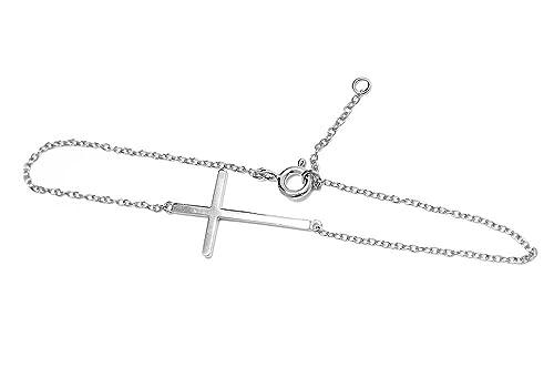 Sideways Cross Bracelet Silver Sideways Cross Bracelet 7