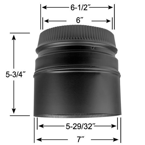 6'' DSP Stove Adaptor - DSP-6SA (Wood Stove Flue Adapter compare prices)