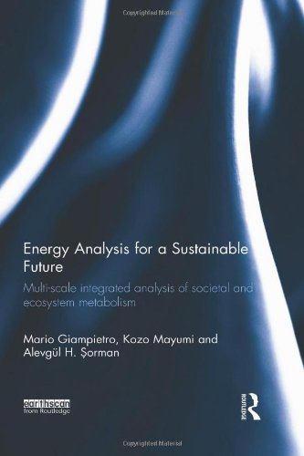Energy Analysis for a Sustainable Future: Multi-Scale Integrated Analysis of Societal and Ecosystem Metabolism