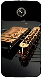 Timpax Protective Hard Back Case Cover With Easy access to all ports Printed Design : Strings of a guitar.Compatible with Google Nexus-5