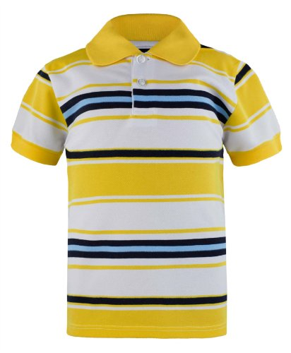 Kids Pique Polo In Yellow 5-6 Years