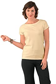 Fair Indigo Ballet Neck Fair Trade Organic Tee