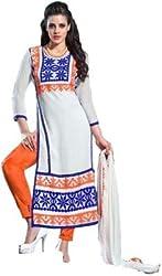 Lakshmi Fashion Creation Women's Georgette Dress Material ( Multicolor )