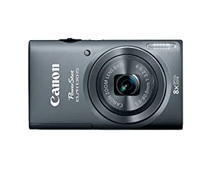 Canon PowerShot ELPH 130 IS 16.0 MP Digital Camera with 8x Optical Zoom 28mm Wide-Angle Lens and 720p HD Video Recording (Gray)