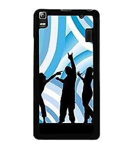 Music Fun Dance 2D Hard Polycarbonate Designer Back Case Cover for Lenovo A7000 :: Lenovo A7000 Plus :: Lenovo K3 Note