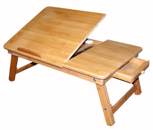 Francois et Mimi Bamboo Multi-Position Adjustable Serving Bed Tray with Drawer (Japanese Low Table compare prices)