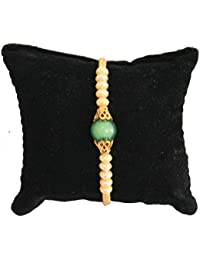 BOGATCHI Green And White Pearl Designer Rakhi With FREE Roli Chawal, Rakhi For Brother, Rakhi Gift For Brother... - B07467F3F5