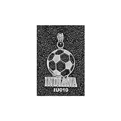 Indiana University Indiana Soccerball - 14K Gold by Logo Art