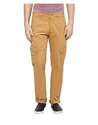 Yepme Men's Yellow Cotton Cargo Pants - YPMPANT0087_28
