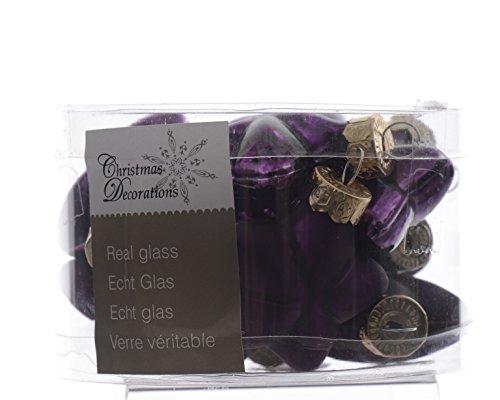 12-Weihnachtskugeln-GLAS-Sterne-4cm-lila-violett-Christbaumkugeln-Baumkugeln-Baumschmuck-Weihnachtsdeko-Kugeln-Glaskugeln-Dose