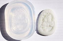 Handmade China Lantian Jade Money Horse Amulet Pendant Clear silicone mold.Size 52x35mm.(2-91)