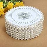 Bheema 35mm 480Pcs White Round Head Pearl Decorating Sewing Pin Craft